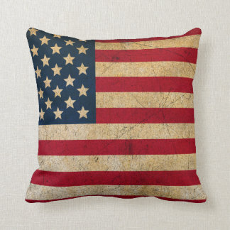 Vintageamerikanska flaggandekorativ kudde kudde