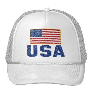 Vintageamerikanska flagganUSA truckerkeps Keps