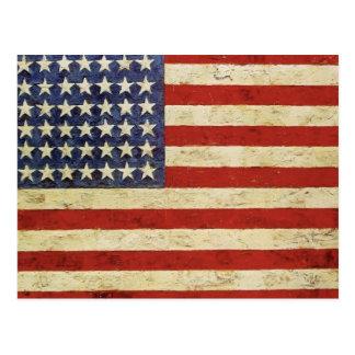 Vintageamerikanska flagganvykort vykort