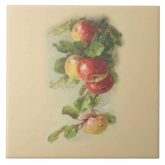 Vintageäpplen Kakelplatta