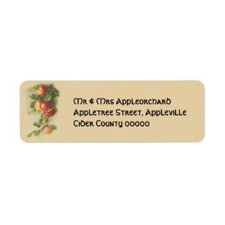 Vintageäpplen Returadress Etikett