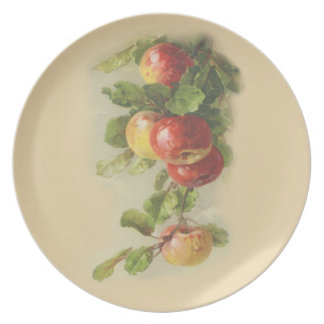 Vintageäpplen Tallrik