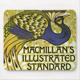Vintageart nouveau, Macmillans påfågelfjäder Musmatta