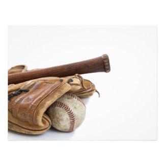 Vintagebaseball och fladdermöss reklamblad