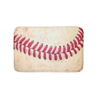Vintagebaseball tätt upp fotoet badrumsmatta