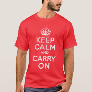 Vintagebehållalugn och bär på t-skjortan t-shirts