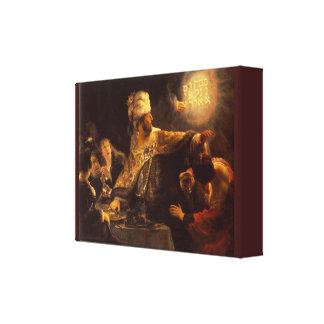 Vintagebelshazzars festmåltid av Rembrandt Van Canvastryck