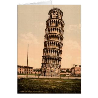 Vintagebenägenhettorn av det Pisa tack Hälsningskort