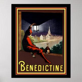 VintageBenedictineCognac annons vid Cappiello Poster