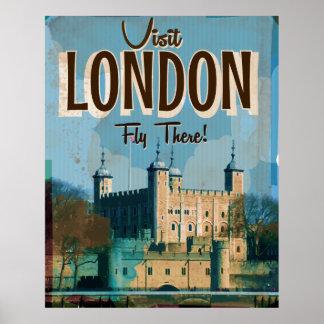 Vintagebesök London - fluga där Poster