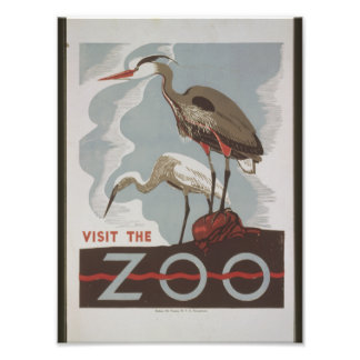 Vintagebesök zooen fotontryck
