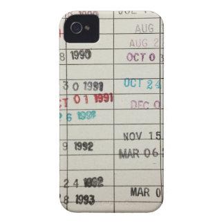 Vintagebibliotek daterar rakt kort iPhone 4 Case-Mate skydd
