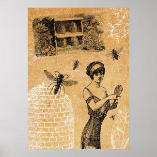Vintagebikupaaffisch Poster