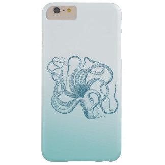 Vintageblåttbläckfisk Barely There iPhone 6 Plus Skal