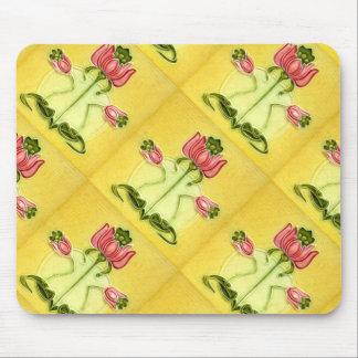Vintageblommigten belägger med tegel art nouveau mus matta