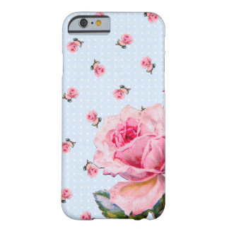 Vintageblommigten och pricker barely there iPhone 6 fodral
