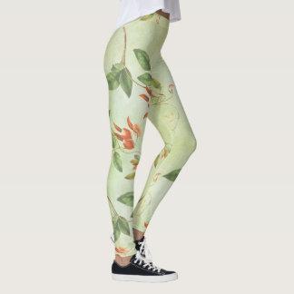 Vintageblommönsterdamasker Leggings