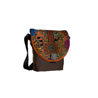 Vintageblommönstret Budbärare-väljer färger Kurir Väskor