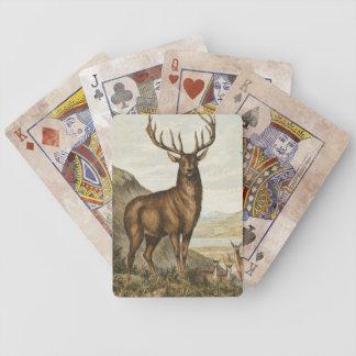 Vintagebockillustration Spelkort