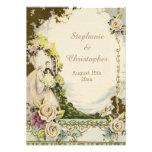 Vintagebrud & chic romantiskt bröllop för brudgum personliga tillkännagivande