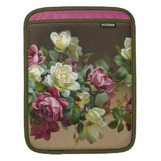 Vintagebukett med rosorkonst iPad sleeve