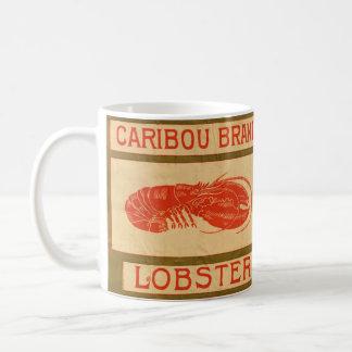 Vintagecaribouen brännmärker hummermuggen kaffemugg
