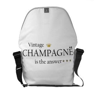 Vintagechampagne är svarsmessenger bag ruck kurir väska