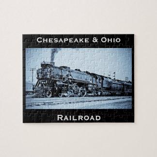 VintageChesapeake & motor för Ohio järnvägtåg Pussel