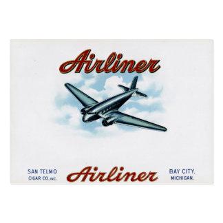 Vintagecigarren boxas etiketttrafikflygplan30-tal visitkort