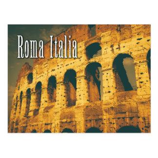 vintagecolosseum roma italia vykort