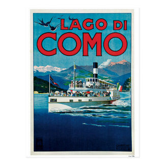 VintageComo italienare för sjön reser annonsen Vykort