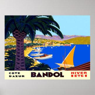 VintageCote d'Azur Bandol fransk reser affischen Poster