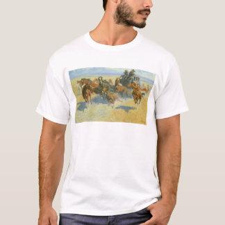 VintageCowboy som Nigh besegrar ledare, Remington Tee Shirts