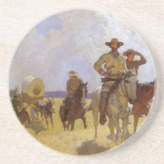 VintageCowboys, den Parkman dräkten vid NC Wyeth Underlägg