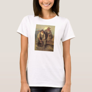 VintageCowboys, lönen arrangerar vid NC Wyeth T-shirt