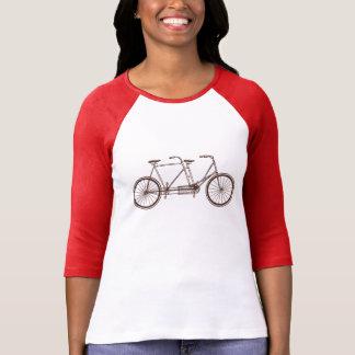 Vintagecykel för två tee shirt