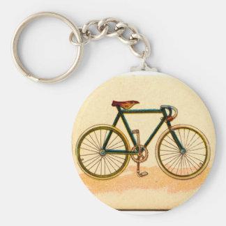 vintagecykel rund nyckelring