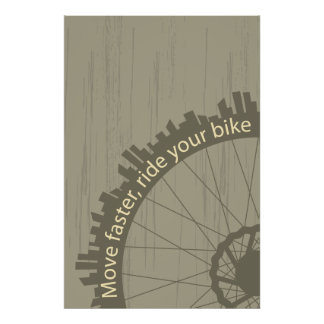 Vintagecykelaffisch Poster