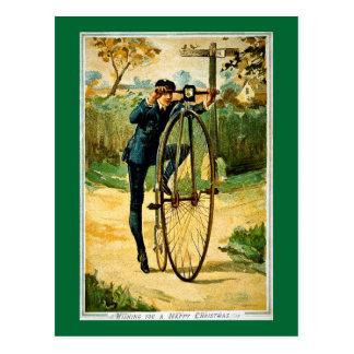 Vintagecykeljulkort Vykort