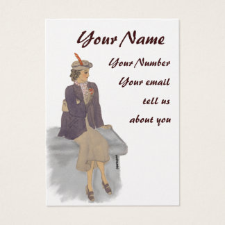 Vintagedamen profilerar kortet visitkort