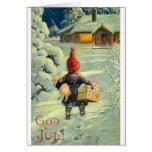 Vintagedanska/norsk gudJul julkort Hälsningskort