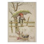 VintagedanskaGlaedelig Jul julkort Hälsningskort
