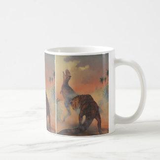 VintageDinosaurs, Carnotaurus mycket i djungel Kaffemugg