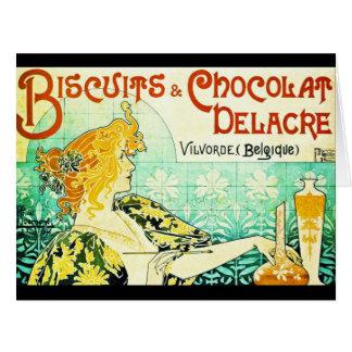 Vintageefterrättannons 1896 jumbo kort