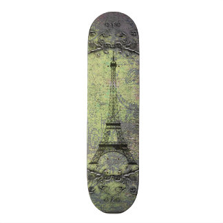 VintageEiffel torn Skateboard Bräda 19,5 Cm