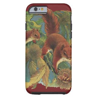 Vintageekorrar, vilda djur, skogvarelser tough iPhone 6 case