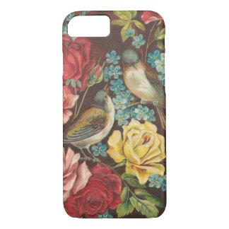Vintagefåglar och blommor