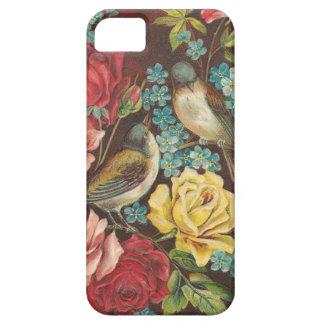 Vintagefåglar och blommor iPhone 5 Case-Mate skal