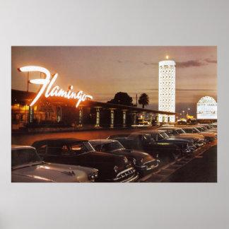 VintageFlamingo i Las Vegas Poster