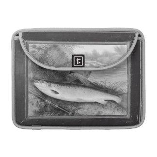 Vintageflygfiskekonst MacBook Pro Sleeves